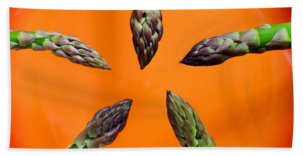 Green Asparagus Beach Towel featuring the photograph Green Asparagus - Fresh Food Photography by Alexander Voss