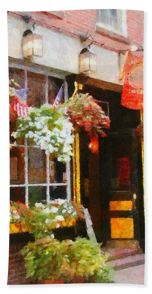 Bar Beach Towel featuring the painting Green Dragon Tavern by Jeffrey Kolker