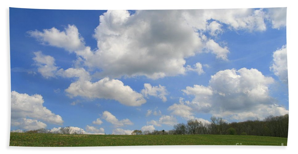 Field Beach Towel featuring the photograph Green Fields by Neal Eslinger