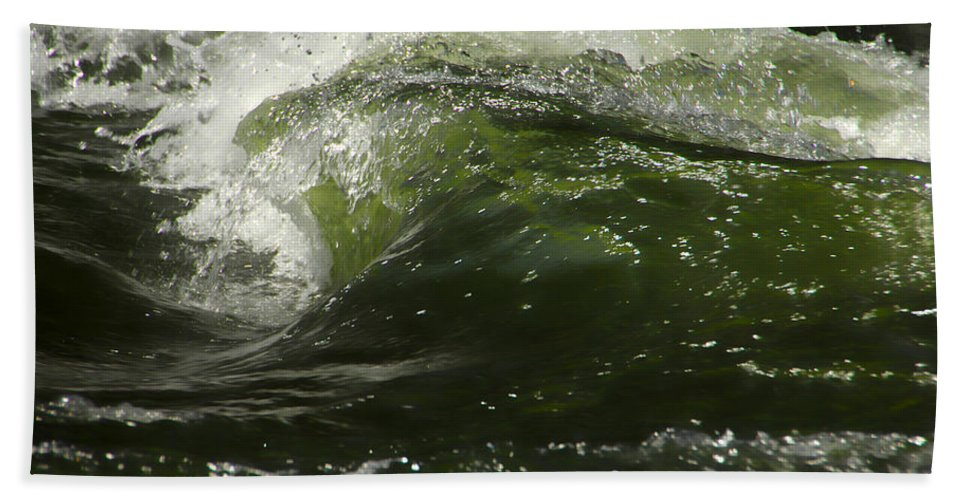 Water Beach Towel featuring the photograph Green Glass by Donna Blackhall