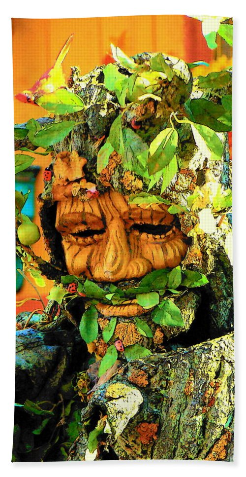 Fine Art Beach Towel featuring the photograph Greenman by Rodney Lee Williams