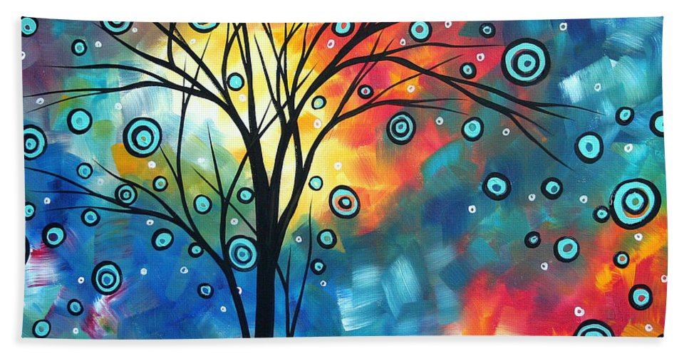 Wall Beach Towel featuring the painting Greeting The Dawn By Madart by Megan Duncanson