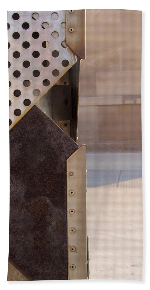 Grid Beach Towel featuring the photograph Grid And Block 2 by Anita Burgermeister