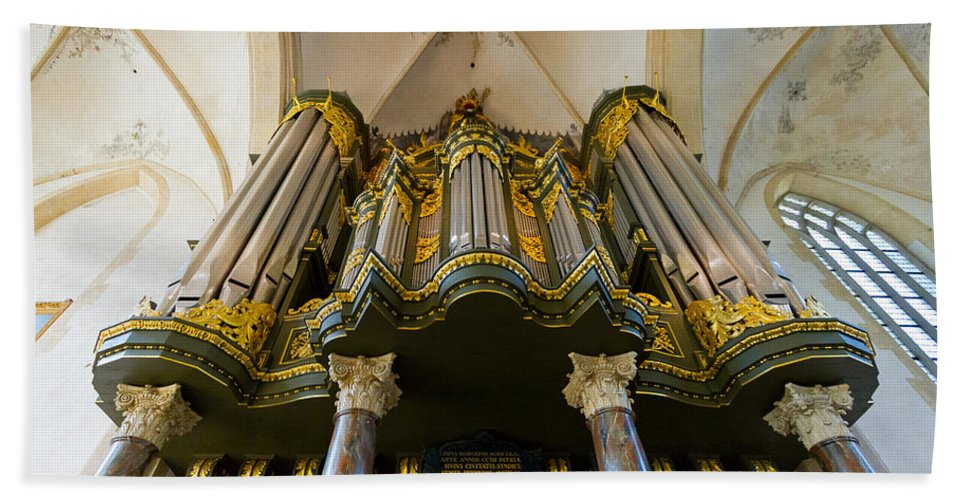 Groningen Beach Towel featuring the photograph Groningen Pipe Organ by Jenny Setchell