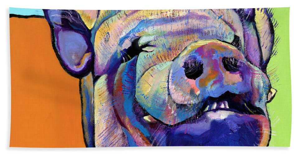 Pat Saunders-white Canvas Prints Beach Towel featuring the painting Grunt  by Pat Saunders-White