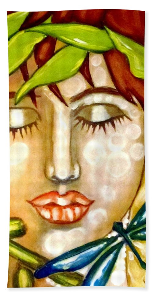 Nature Beach Sheet featuring the painting Guardian Of Nature by Pierrette DeGrace
