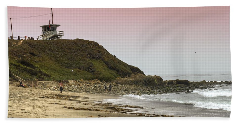 Lifeguard Beach Towel featuring the photograph Guarding Lives by Ricky Barnard