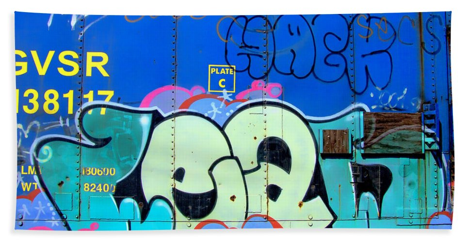 Graffiti Beach Towel featuring the photograph Hack by Donna Blackhall