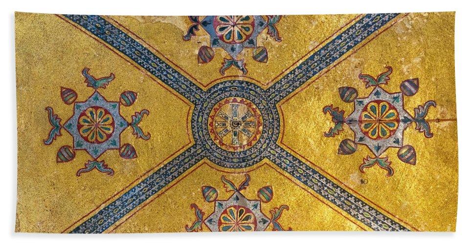 Hagia Beach Towel featuring the photograph Hagia Sofia Interior 03 by Antony McAulay