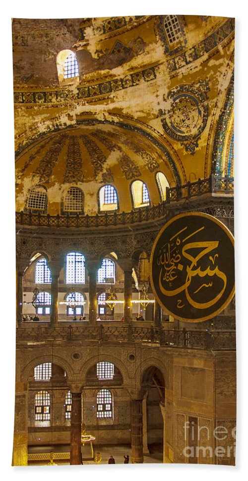 Hagia Beach Towel featuring the photograph Hagia Sofia Interior 15 by Antony McAulay