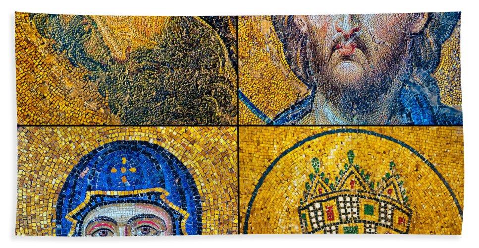 Istanbul Beach Towel featuring the photograph Hagia Sofia Mosaics by Antony McAulay