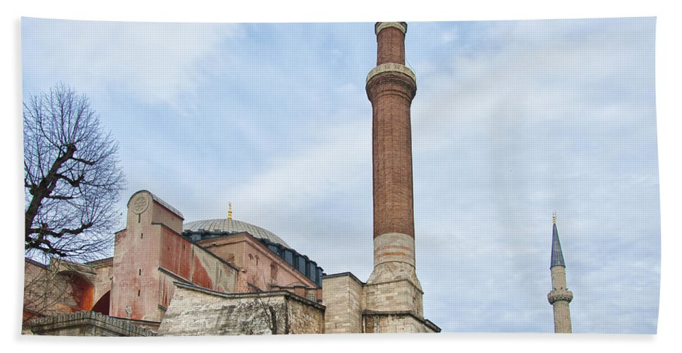Turkey Beach Towel featuring the photograph Hagia Sophia 15 by Antony McAulay