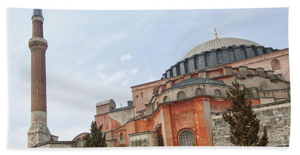 Turkey Beach Towel featuring the photograph Hagia Sophia 17 by Antony McAulay