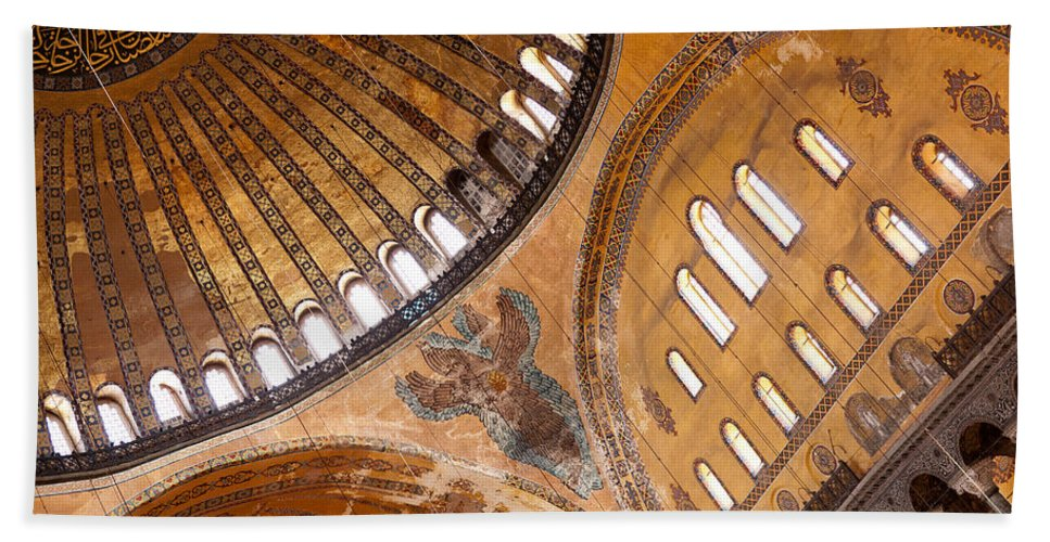 Istanbul Beach Towel featuring the photograph Hagia Sophia Dome 01 by Rick Piper Photography
