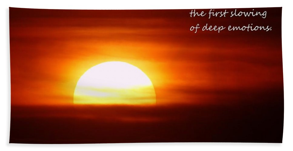 Sun Down Beach Towel featuring the photograph Haiku Sundown by Jeff Swan
