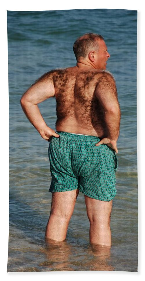 Man Beach Towel featuring the photograph Hairy Ocean by Rob Hans