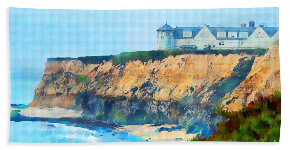Half Moon Bay Golf Links Beach Towel featuring the photograph Half Moon Bay 2 by Betty LaRue