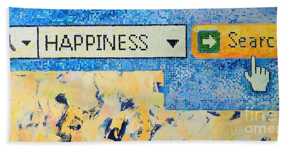 Happiness Beach Towel featuring the painting Happiness by Ana Maria Edulescu