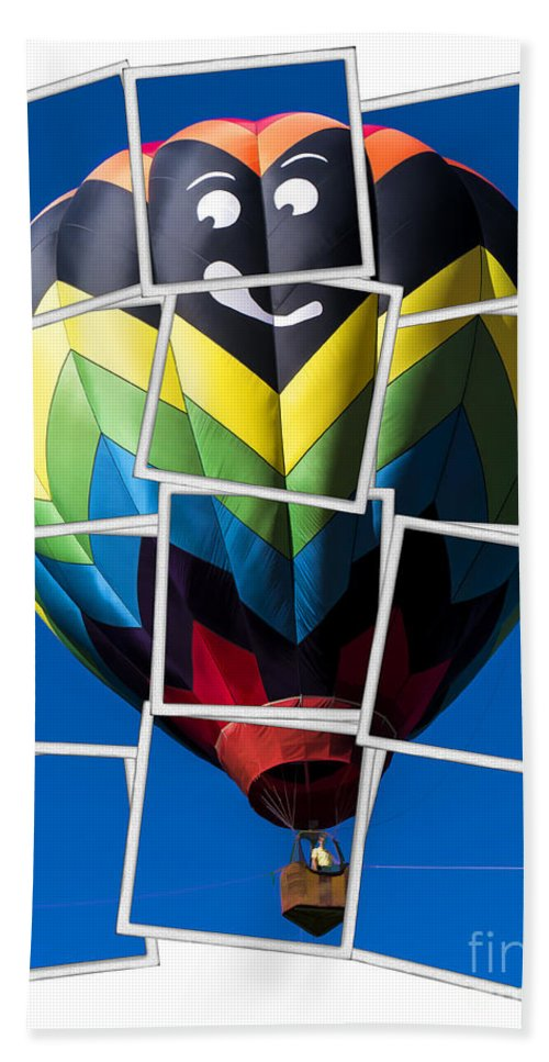 Hot Beach Towel featuring the photograph Happy Balloon Ride by Edward Fielding