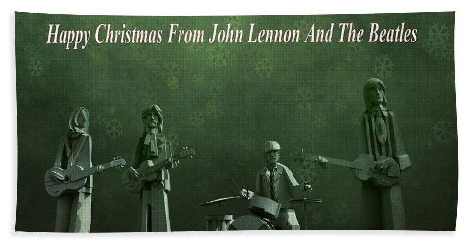 Happy Christmas From John Lennon Beach Towel featuring the photograph Happy Christmas From John Lennon by Dan Sproul