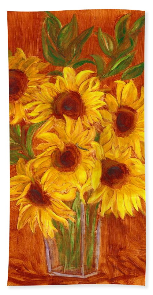Still Life Beach Towel featuring the painting Happy Mother's Day by Paula Emery