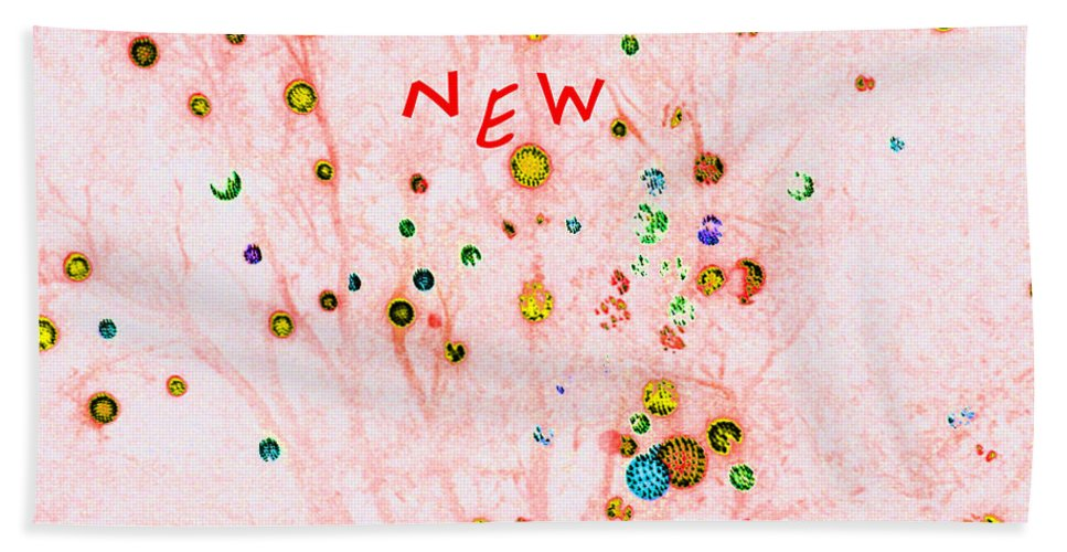 Computer Graphics Beach Towel featuring the photograph Happy New Year by Marian Bell