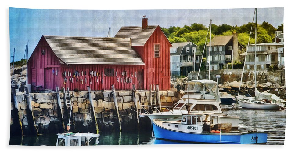 Motif 1 Beach Towel featuring the photograph Harbor View by Claudia Kuhn
