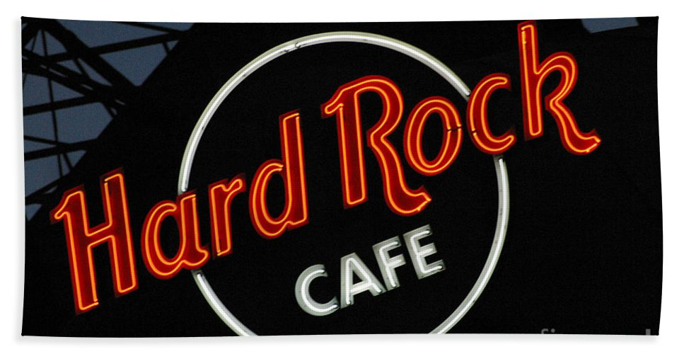 Hard Rock Cafe Beach Towel featuring the photograph Hard Rock - St. Louis by Gary Gingrich Galleries