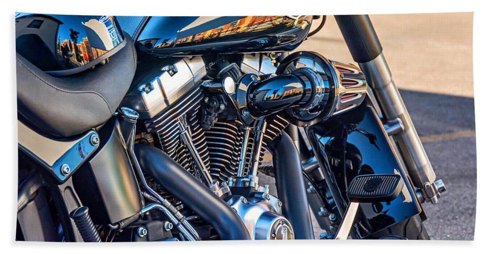 Bolton Beach Towel featuring the photograph Harley Davidson 2 by Steve Harrington