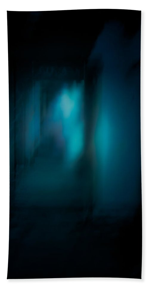 Ghostly Beach Towel featuring the photograph Haunted by Chris Lord