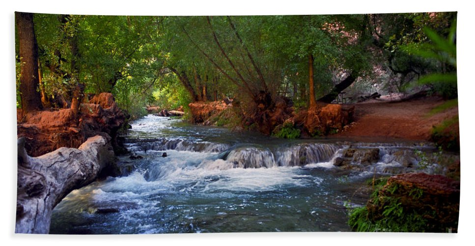 Arizona Beach Towel featuring the photograph Havasu Creek by Kathy McClure