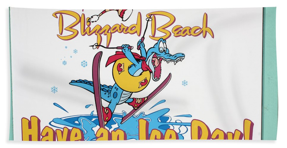 Disney World Beach Towel featuring the photograph Have An Ice Day by David Nicholls