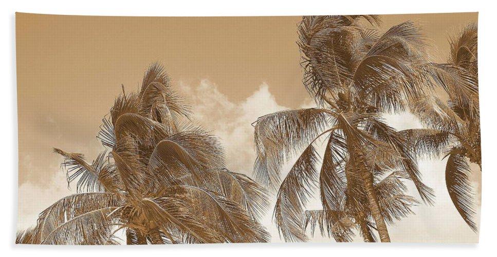 Landscape Beach Sheet featuring the photograph Hawaiian Breeze by Athala Carole Bruckner