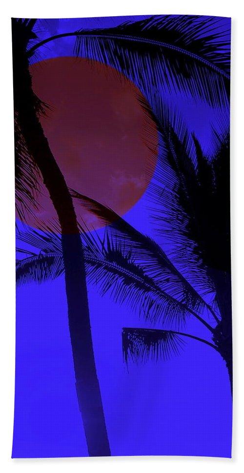 Hawaii Beach Towel featuring the photograph Hawaiian Moon Light by Athala Bruckner