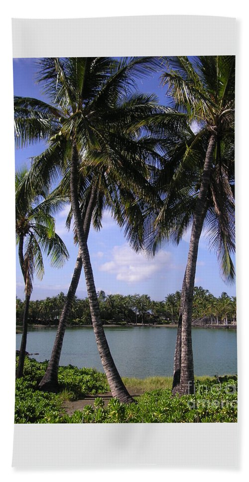 Palm Trees Beach Sheet featuring the photograph Hawaiian Paradise by Crystal Miller