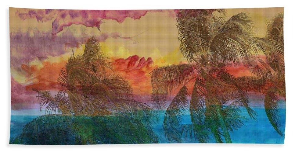 Hawaii Beach Towel featuring the photograph Hawaiian Sunset by Athala Bruckner