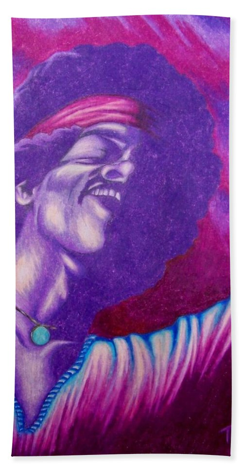 Michael Beach Towel featuring the drawing Haze by Michael TMAD Finney