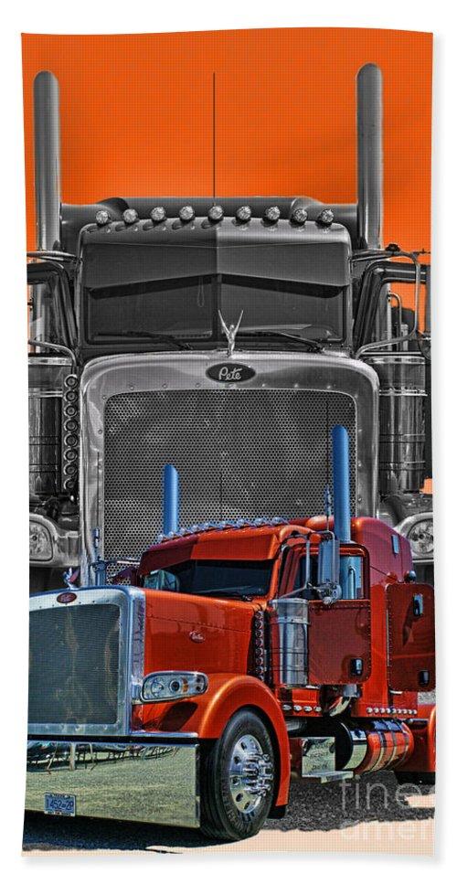 Trucks Beach Towel featuring the photograph Hdrcatr3079a-13 by Randy Harris