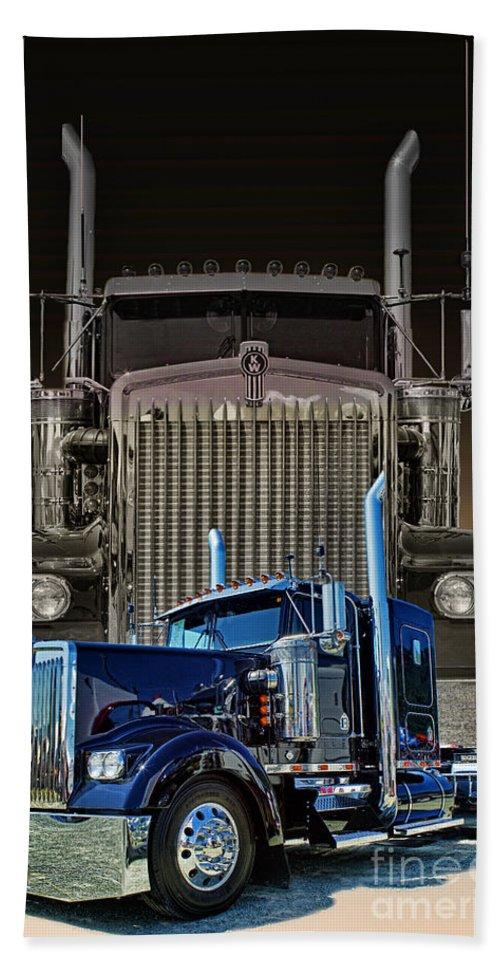 Trucks Beach Towel featuring the photograph Hdrcatr3101a-13 by Randy Harris