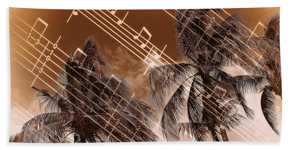Island Beach Towel featuring the photograph Hear the music by Athala Bruckner
