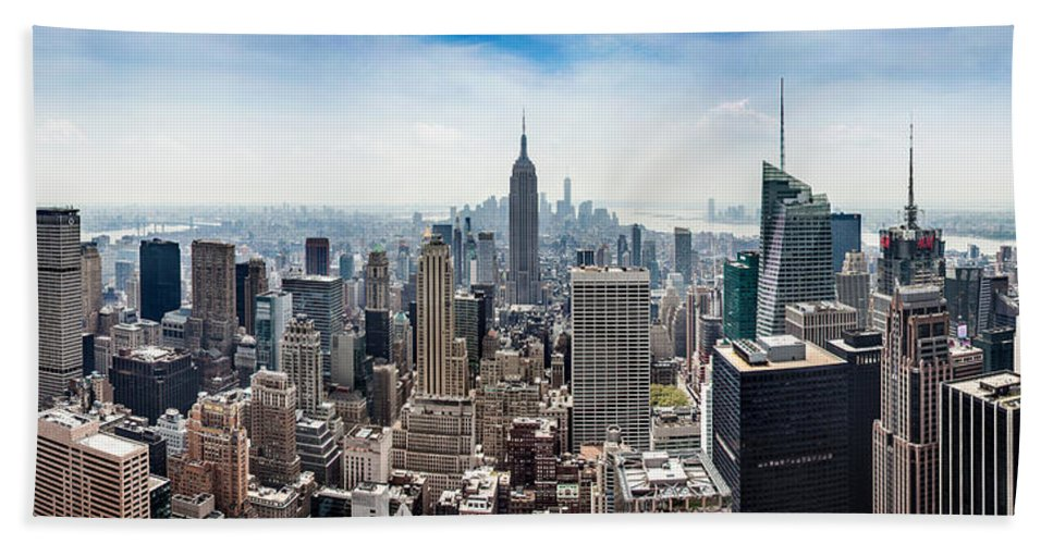Empire State Building Beach Towel featuring the photograph Heart Of An Empire by Az Jackson