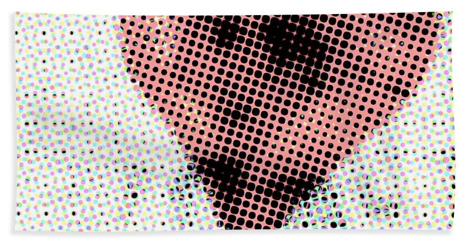 Abstract Beach Towel featuring the photograph Hearts 21 Square by Edward Fielding