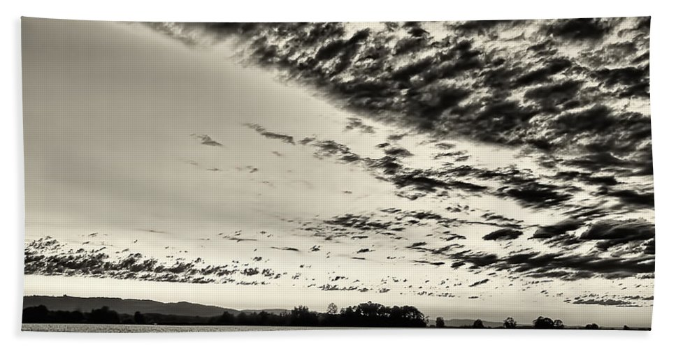 Sunset Beach Towel featuring the photograph Heavenly Summer Sky by Don Schwartz