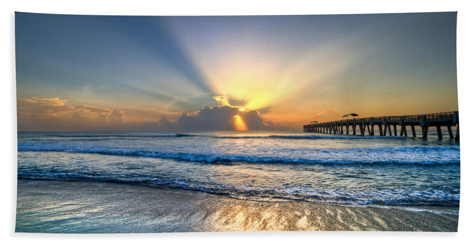 Palm Beach Towel featuring the photograph Heaven's Door by Debra and Dave Vanderlaan
