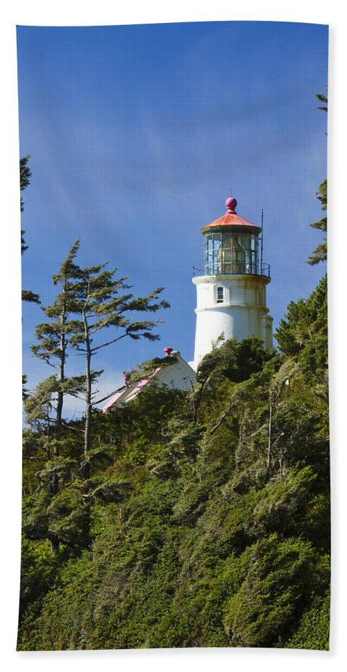 Heceta Beach Towel featuring the photograph Heceta Head Lighthouse 1 B by John Brueske