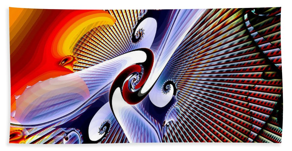 Helios Beach Towel featuring the digital art Helios by Kimberly Hansen
