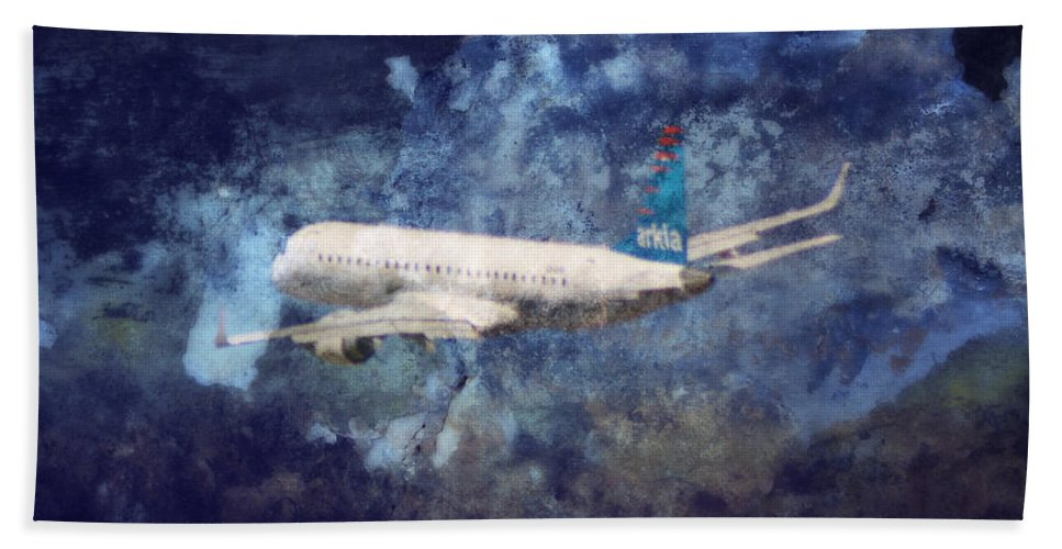 Airplane Beach Towel featuring the photograph Hell Of A Flight by Doc Braham