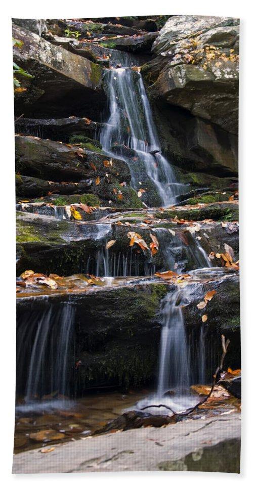 Waterfall Beach Towel featuring the photograph Hidden Falls 3 by Chris Flees