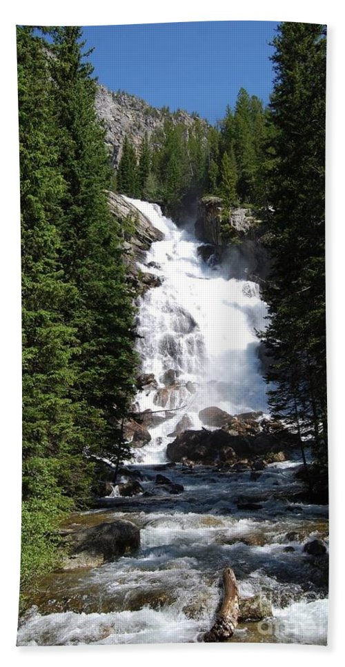 Waterfall Beach Towel featuring the photograph Hidden Falls by Deanna Cagle
