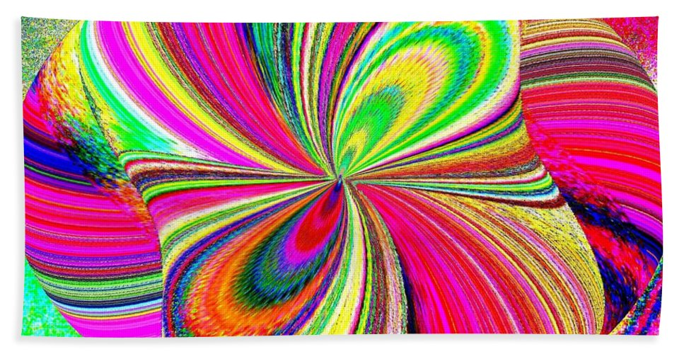 High Definition Color 1 Beach Towel featuring the digital art High Definition Color 1 by Will Borden